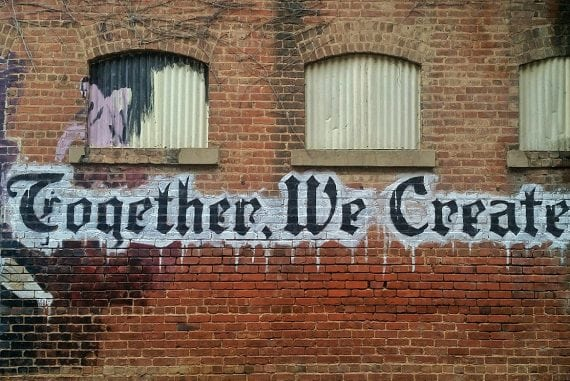 Together we create - image for article by Greg Alder